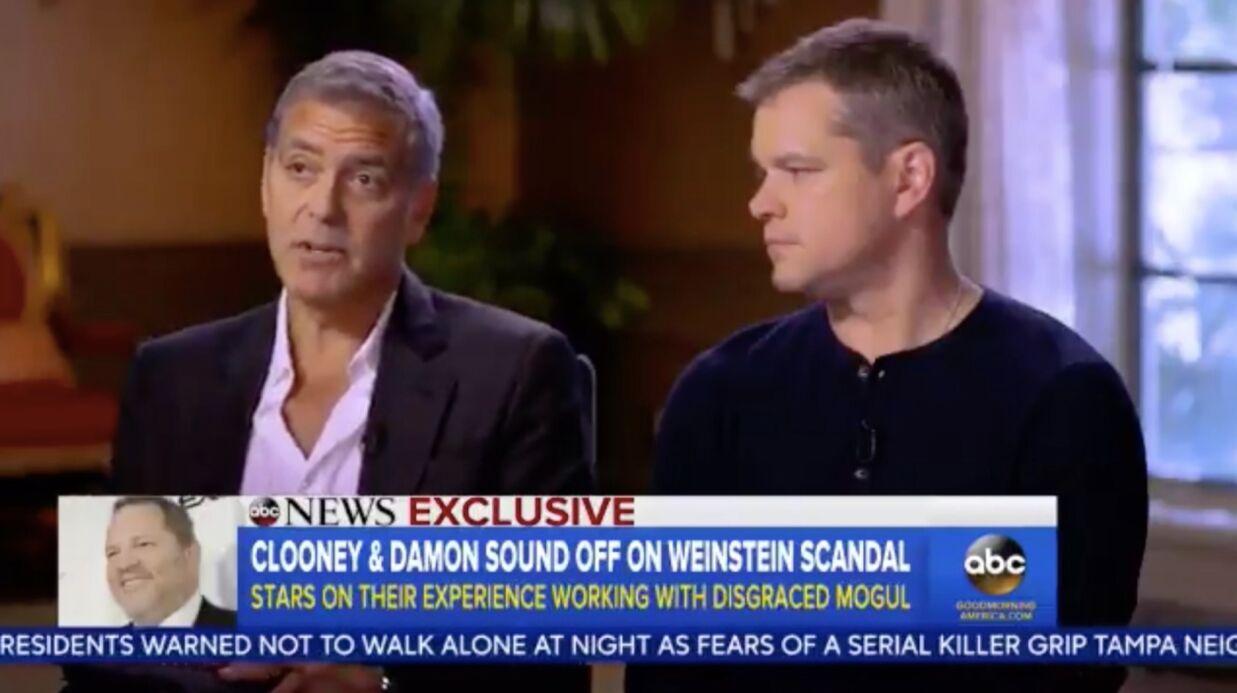 Affaire Weinstein: Matt Damon et George Clooney se défendent d'avoir été au courant