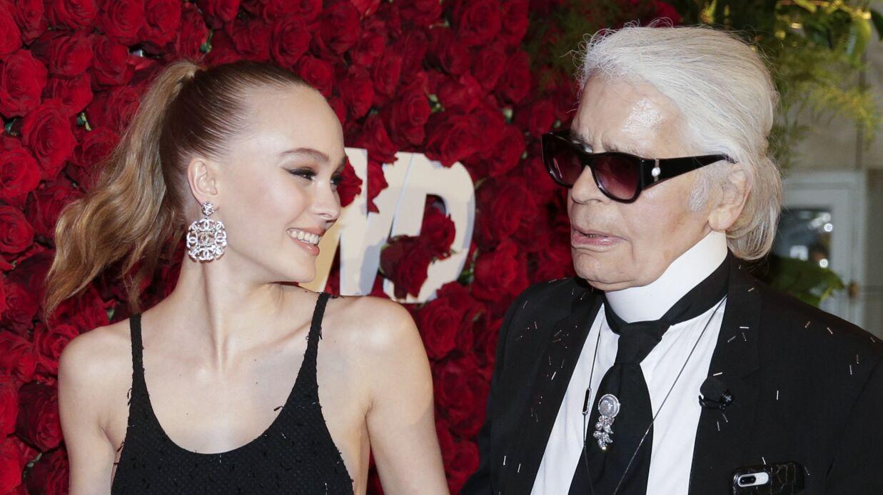 PHOTOS Lily-Rose Depp sexy et ultra complice avec Karl Lagerfeld pour la soirée WWD