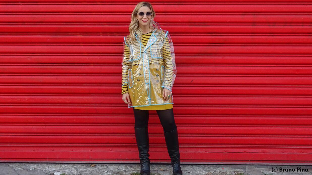 Conseils mode – Le défi de Virginie: comment s'habiller en plastique transparent?