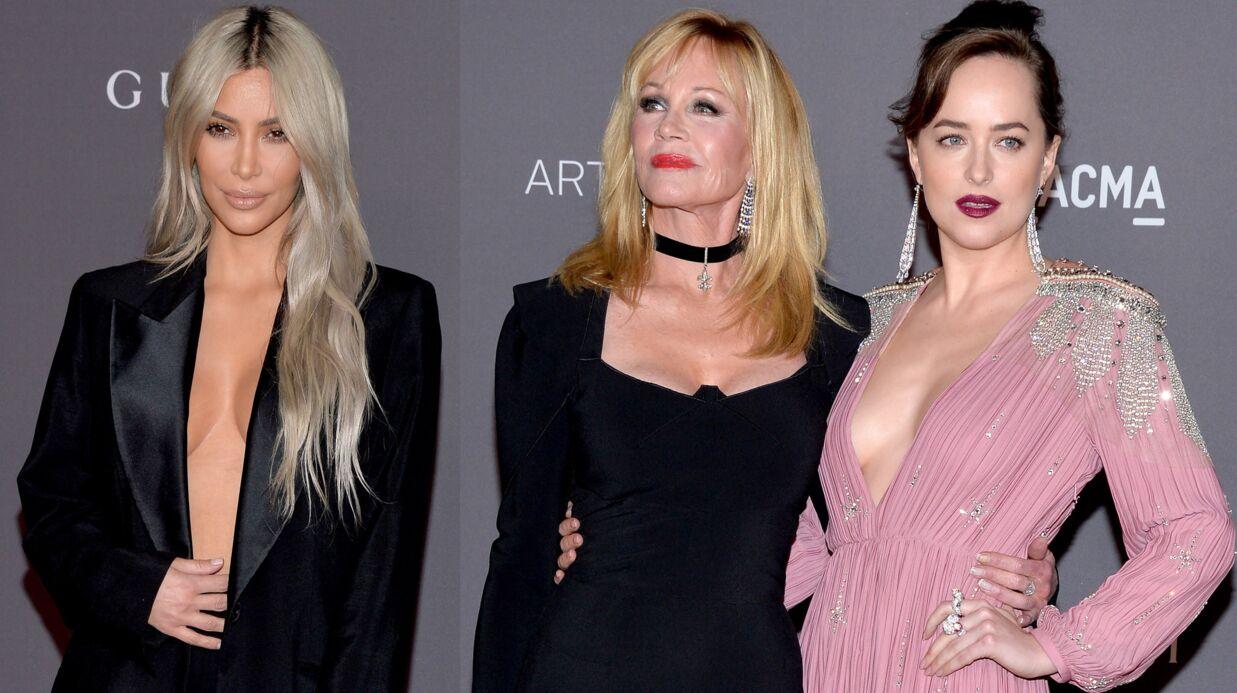 DIAPO Kim Kardashian, Dakota Johnson, Melanie Griffith… Elles misent toutes sur le décolleté au gala du LACMA