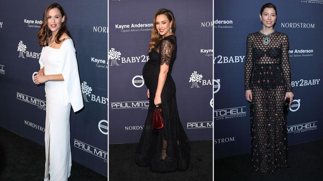 PHOTOS Jessica Alba enceinte, Jessica Biel surprenante au Baby2Baby Gala