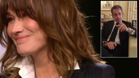 VIDEO L'adorable message surprise de Nicolas Sarkozy à Carla Bruni en direct sur France 2