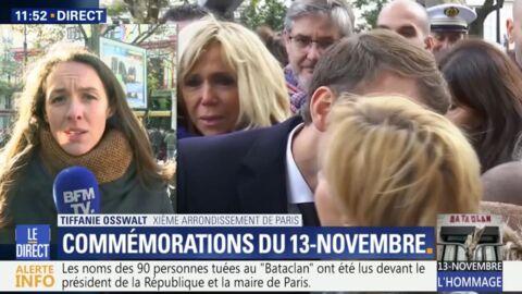 VIDEO Brigitte Macron: émue par l'hommage aux victimes des attentats, elle n'a pu retenir ses larmes