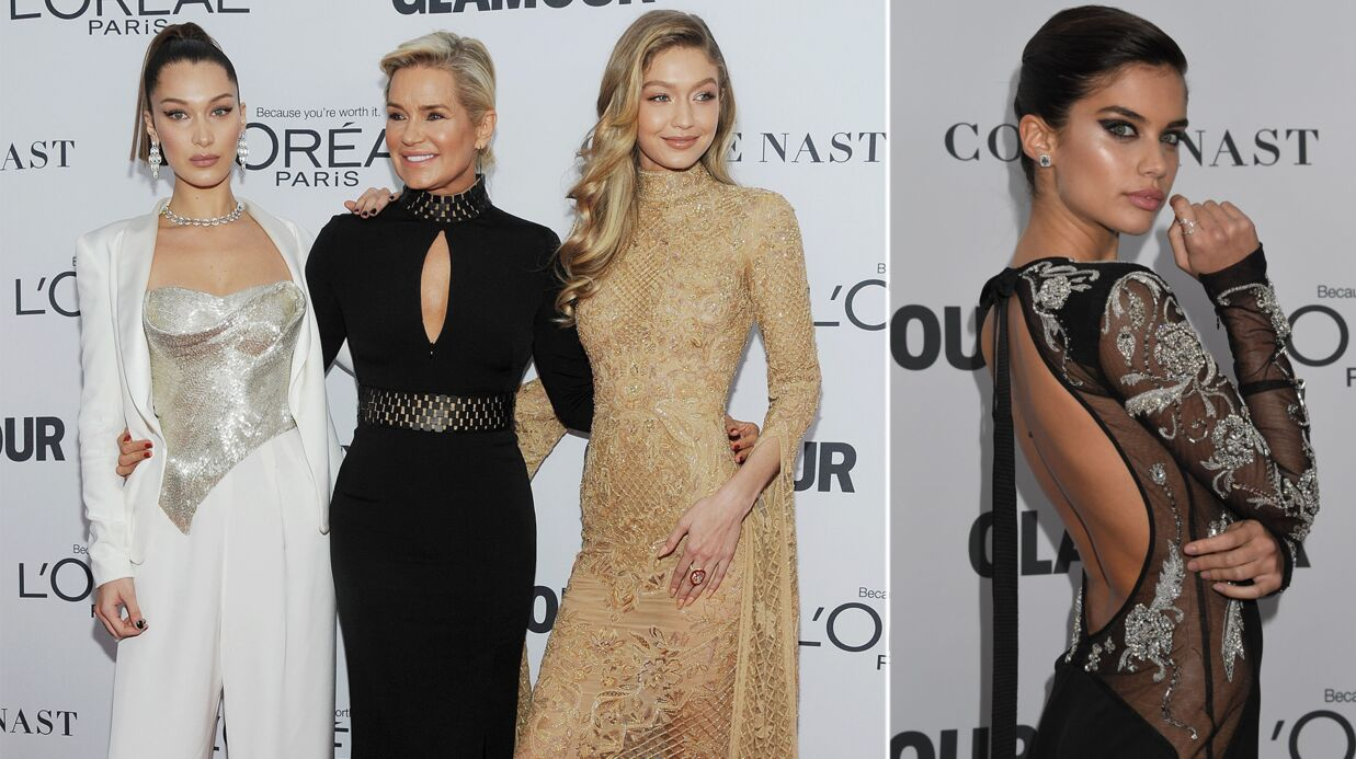 PHOTOS Gigi et Bella Hadid avec leur mère, Sarah Sampaio sexy aux Women of the Year Awards