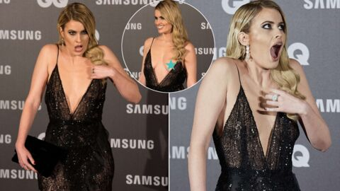 PHOTOS Gros accident de décolleté lors des GQ Awards à Madrid