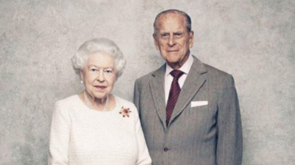 la reine elisabeth ii et le prince philip c l brent leurs 70 ans de mariage voici. Black Bedroom Furniture Sets. Home Design Ideas