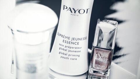 Nos beauty crushs: le soin préparateur Suprême Jeunesse Essence de Payot et le vernis métallique Dior