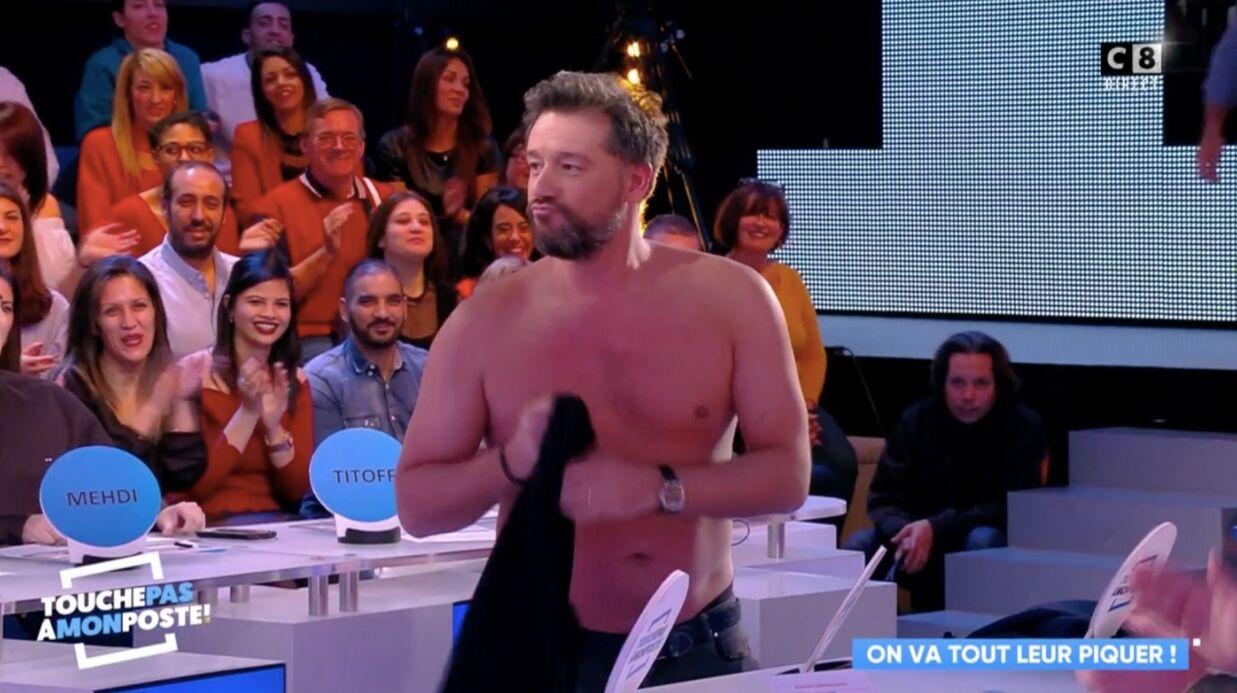 VIDEO Titoff finit torse nu en direct dans Touche pas à mon poste