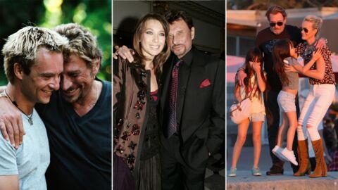 Mort de Johnny Hallyday: David, Laura, Jade et Joy, le père qu'il était pour ses enfants