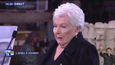 Hommage à Johnny Hallyday: le discours chargé d'émotion de sa marraine Line Renaud