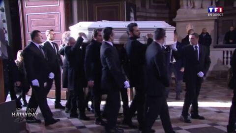 Hommage à Johnny Hallyday: qui sont les proches qui ont porté son cercueil dans l'église?