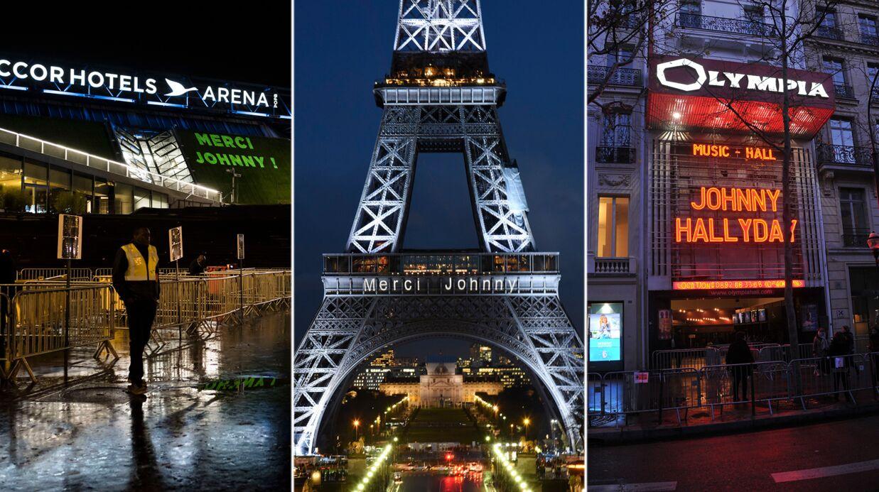Mort de Johnny Hallyday: la tour Eiffel, l'Olympia… l'hommage au rocker s'affiche en grand