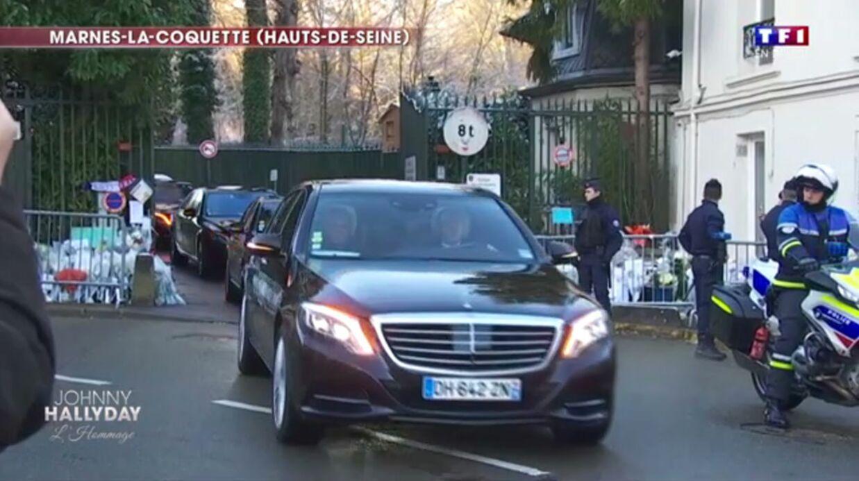 Mort de Johnny Hallyday: les proches de la star quittent Marnes-la-Coquette pour se rendre au funérarium