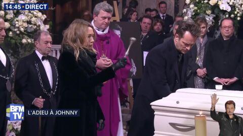 Hommage à Johnny Hallyday: les adieux bouleversants de sa famille