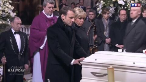 Johnny Hallyday: découvrez pourquoi Emmanuel Macron n'a pas béni son cercueil