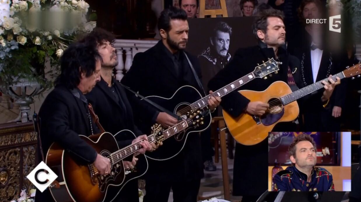 VIDEO Mort de Johnny Hally­day : Matthieu Chedid revient sur sa pres­ta­tion rock'n'­roll à l'église de la Made­leine