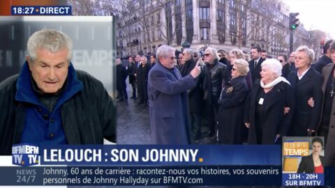 VIDEO Claude Lelouch explique pourquoi il a filmé en gros plan les proches de Johnny Hallyday