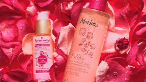 Nos beauty crushs: l'Elixir Essentiel Bio Puressentiel et le Nectar de Roses Douche de Pétales Melvita