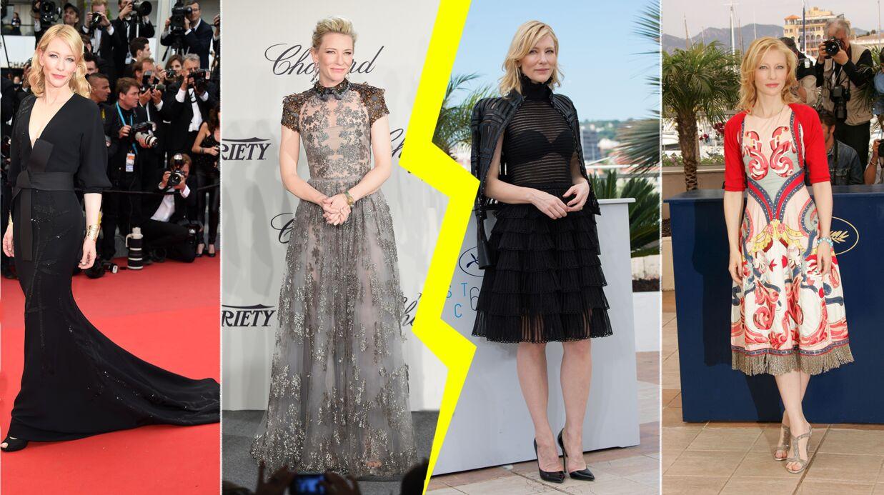 Les do et les don'ts de la semaine: les tenues de Cate Blanchett lors du Festival de Cannes