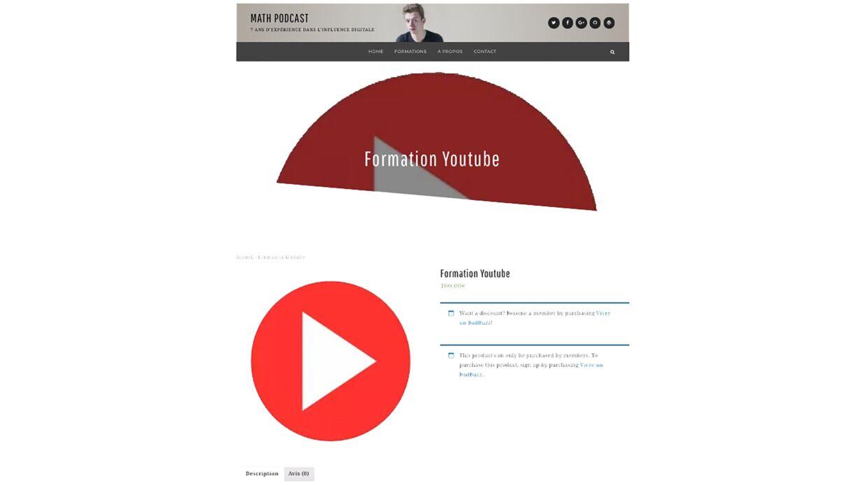 Epinglé pour plagiat, Math Podcast vend sa méthode pour devenir youtubeur: il se fait démonter