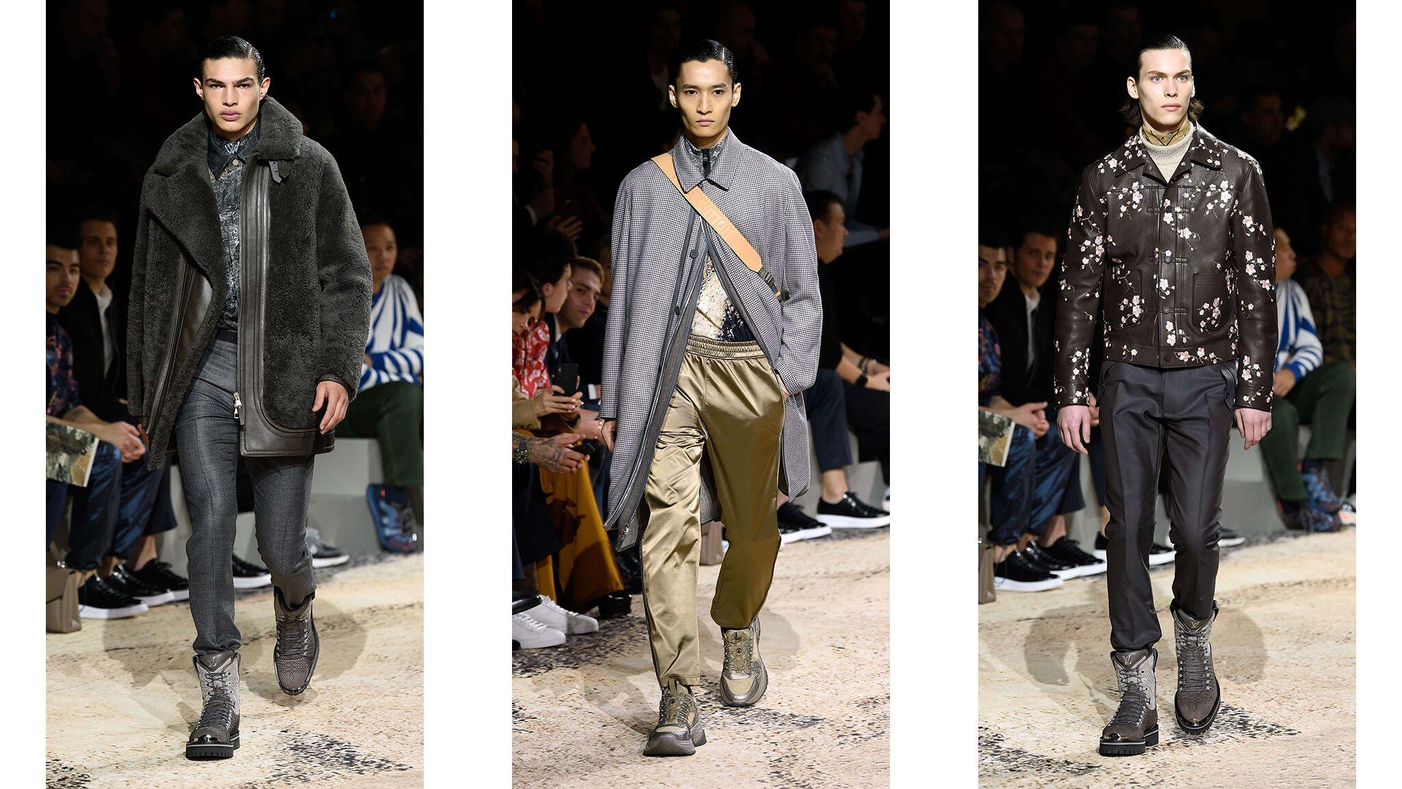 762f16c05bbc Fashion Week homme Automne Hiver 2018–19   le dernier défilé de Kim Jones  pour Louis Vuitton - Voici