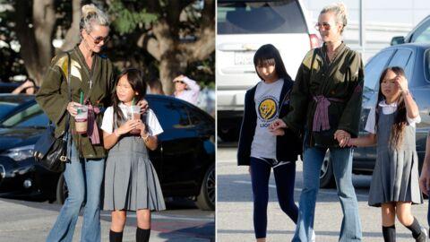 Laeticia Hallyday: tendre moment avec Jade et Joy dans les rues de Los Angeles