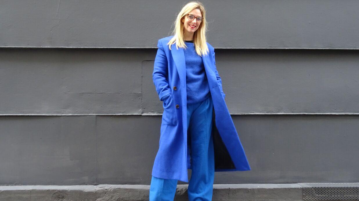 Tendance: comment porter le bleu paon? Le défi de Virginie.