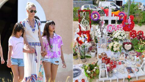 Laeticia Hallyday a laissé un objet symbolique sur la tombe de Johnny avant de quitter Saint Barth