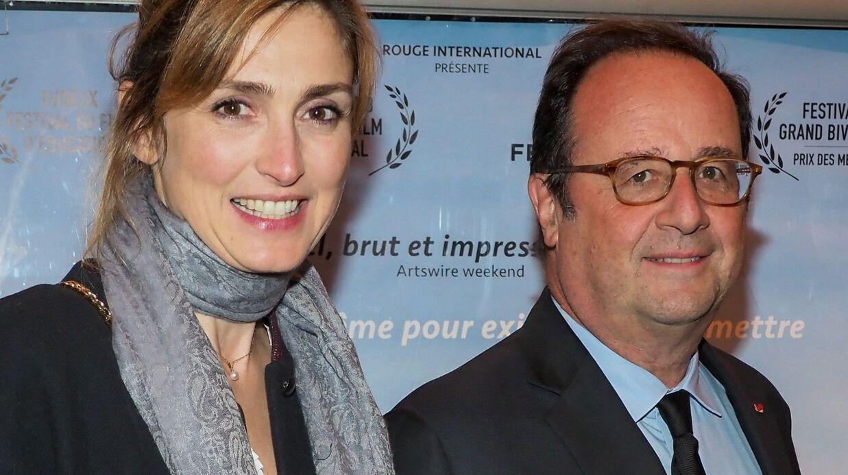 PHOTOS Julie Gayet et François Hollande de plus en plus complices devant les photographes lors d'une première