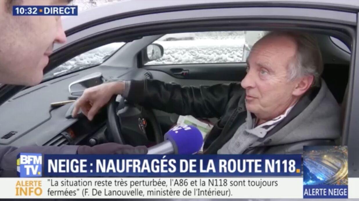 VIDEO Yves Lecoq: pris au piège de la neige, il a passé la nuit dans sa voiture