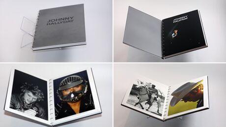Johnny Hallyday: un grand livre de sept kilos à couverture en acier lui rend hommage