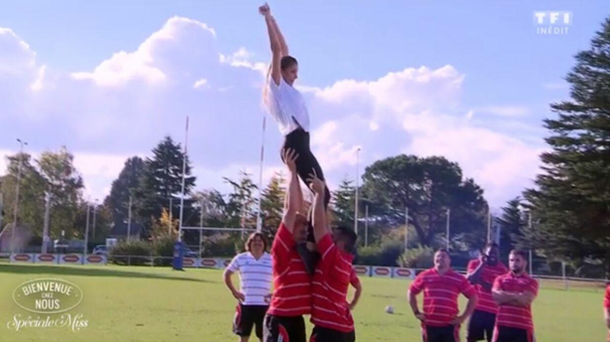 VIDEO Camille Cerf très mal à l'aise face aux mains baladeuses de rugbymen