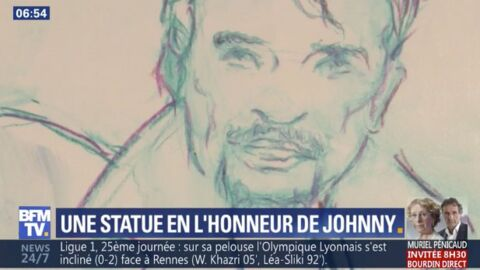 Johnny Hallyday: découvrez à quoi va ressembler sa statue de près de 3m de haut