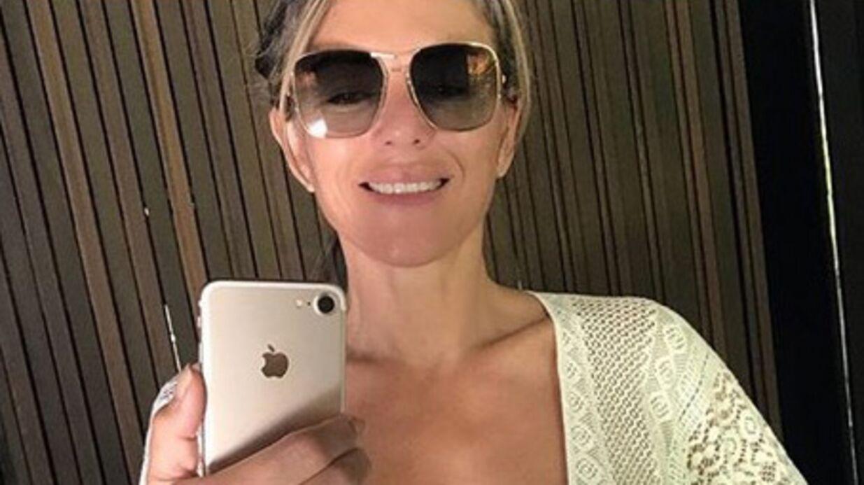 PHOTO Elizabeth Hurley seins nus sous son gilet en crochet: ON VOIT TOUT!