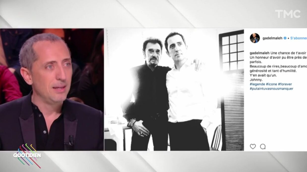VIDEO Gad Elmaleh raconte comment Johnny Hallyday l'a soutenu dans sa carrière américaine