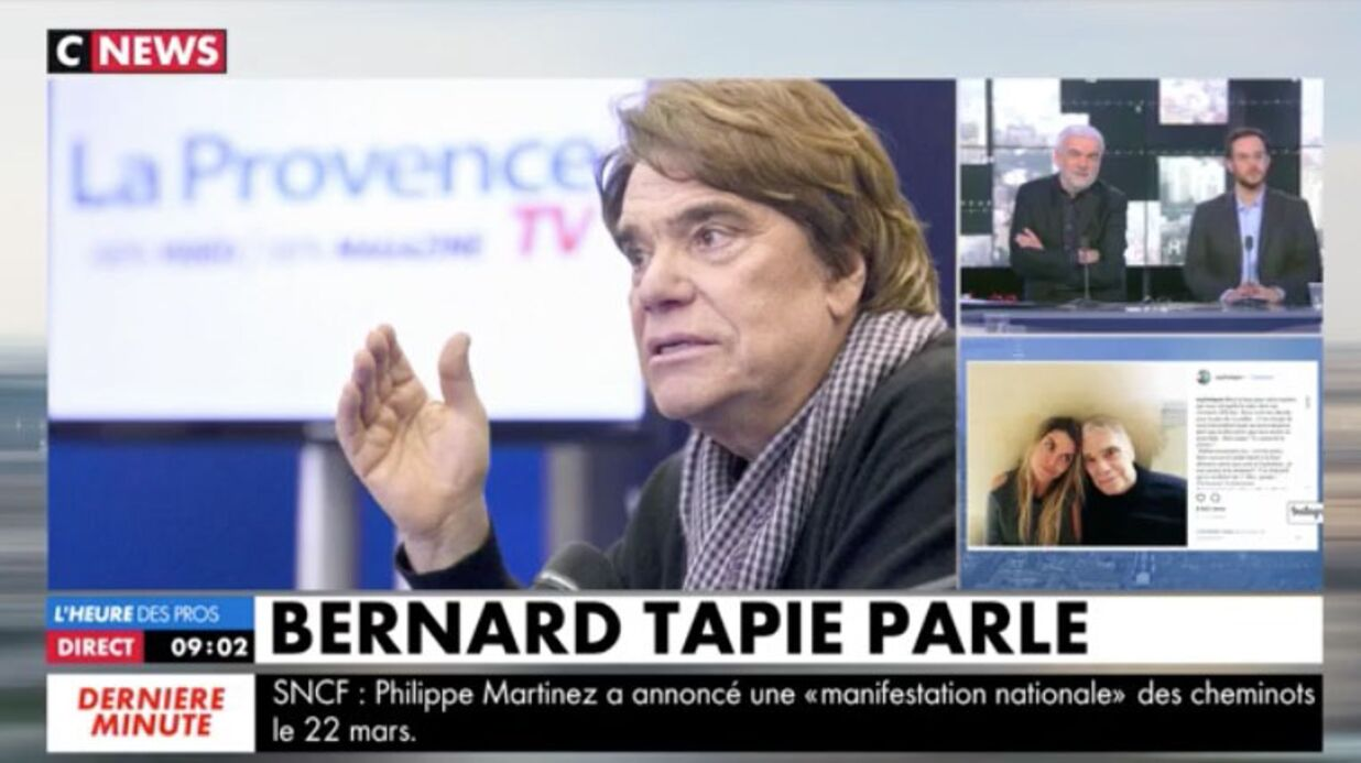 VIDEO Bernard Tapie appelle CNews en direct et donne de ses nouvelles