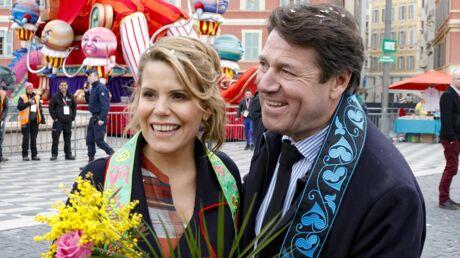 PHOTOS Laura Tenoudji et Christian Estrosi s'amusent au carnaval de Nice avec leur petite Bianca