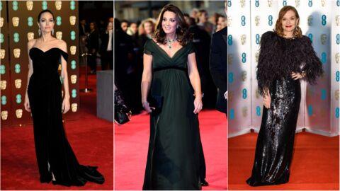 PHOTOS BAFTA 2018: Kate Middleton crée la surprise, Angelina Jolie, Isabelle Huppert, Jennifer Lawrence en noir: le meilleur (et le pire) du tapis rouge