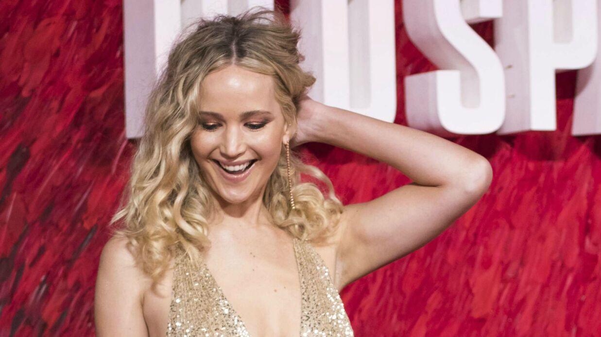 PHOTOS Jennifer Lawrence montre presque tout dans un décolleté vertigineux