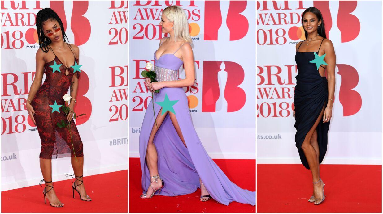 PHOTOS Accidents de culotte et de décolleté, transparence et robes fendues: les stars montrent TOUT aux Brit Awards 2018