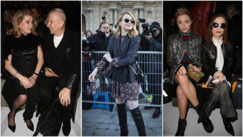 PHOTOS Catherine Deneuve tatouée, Emma Stone en cuissardes, Justin Theroux en solo: le public ultra VIP du défilé Louis Vuitton