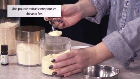 VIDEO LA MINUTE DIY: Comment fabriquer une poudre texturisante pour donner du volume aux cheveux fins et plats
