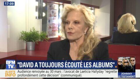 VIDEO Sylvie Vartan considère «légitime» la demande de David d'écouter l'album de son père
