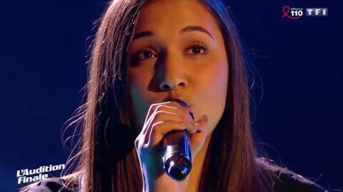 VIDEO The Voice: victime d'une extinction de voix, une candidate chante Vole de Céline Dion