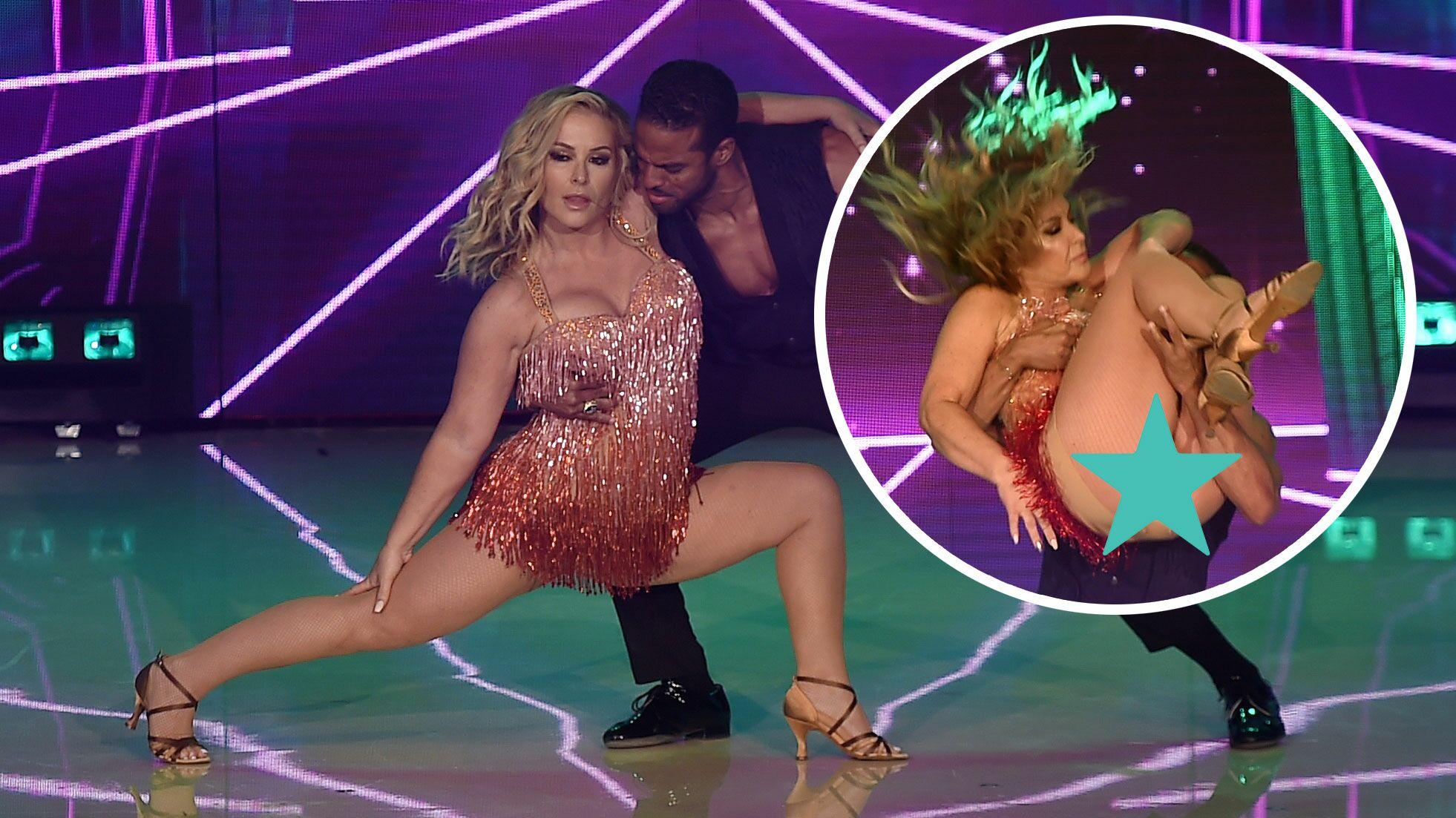 Photos Accident De Robe Anastacia Se Retrouve Les Fesses A L Air Libre Dans Danse Avec Les Stars Voici