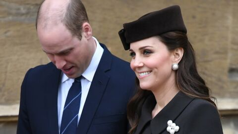 PHOTOS Kate Middleton affiche son baby bump à la messe de Pâques