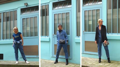 Trois façons de porter la combi en jean à – de 100 euros! Le défi de Virginie