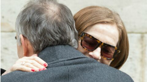 PHOTOS Obsèques de Stéphane Audran: l'émotion de son fils Thomas Chabrol, Isabelle Huppert très affectée