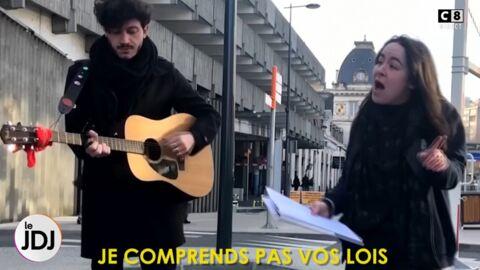 VIDEO Bloquée en gare de Toulouse, une Américaine compose une chanson sur la grève SNCF
