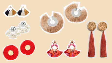 Accessoires: 45 boucles d'oreilles à pompons à shopper absolument